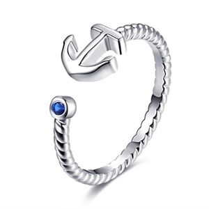 Jewelry - 🎁 Anchor & Blue CZ Ring